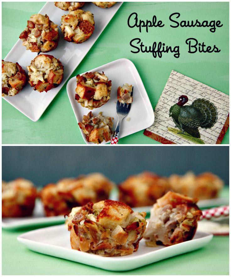 #Apple #Sausage Stuffing #Bites