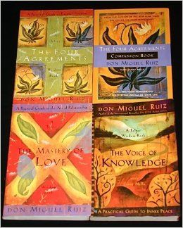 """4 Titles By Don Miguel Ruiz: """"The Four Agreements, """" """"The Four Agreements Companion Book, """" """"The Master of Love, """" """"The Voice of Knowledge.""""..."""