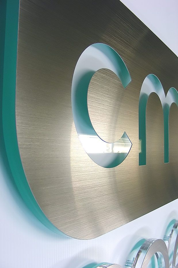 Clean design, modern materials | Company sign, company signage, logo sign, building signage