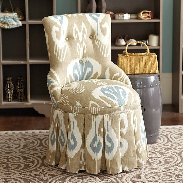 Charming Francie Swivel Chair By Ballard Designs Great Choice Of Fabric For A  Bedroom Nursing Char.The Ikat Fabric Gives The Piece An Exotic Note Keeping  It Elegant.