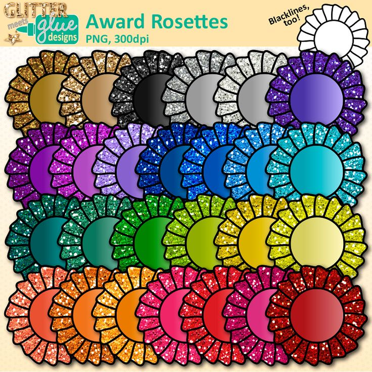 Download award rosettes clipart for Field Day, end of year, graduation, honor roll certificates. Create for International Games & student of the month.