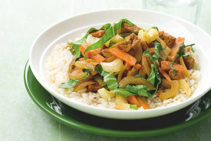 Pikante tofu met wintergroenten - Recept - Allerhande