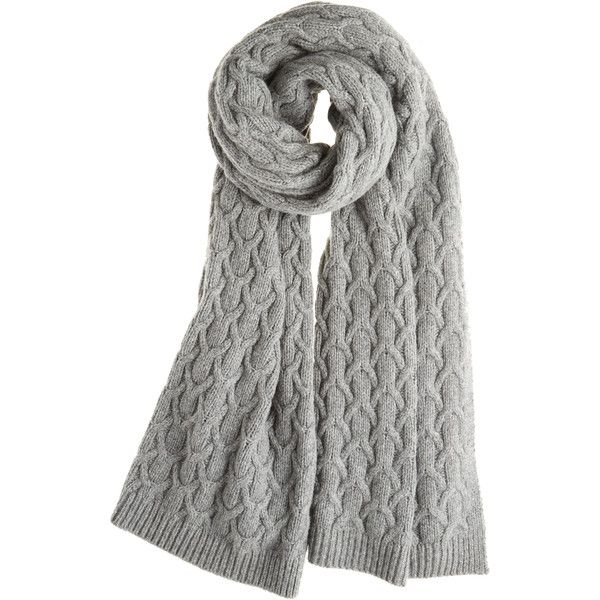 CABLE CUSHY SCARF  | Calypso St. Barth ❤ liked on Polyvore featuring accessories, scarves, wool shawl, calypso st. barth, wool scarves, cable knit scarves and cable knit shawl