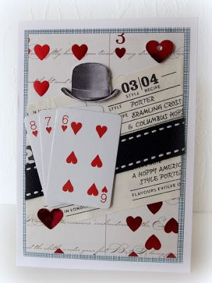 With small playing cards and bowler hat _ Moski