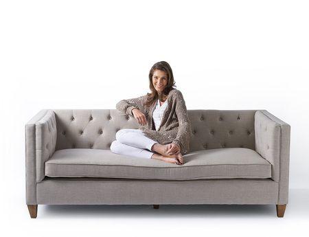 Manhattan Sofa 3 seater linen Flax