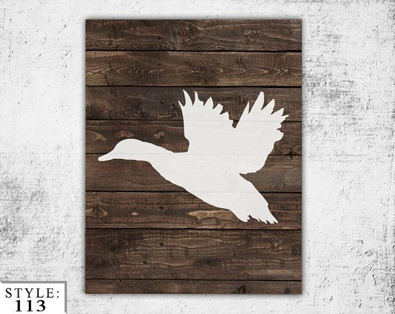 Wooden Duck Sign 11x14 Home Decor Outdoors by BlayedStudios