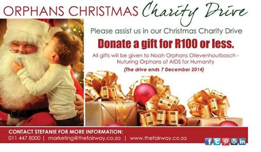 Help put a smile on a child's face with our Orphans Xmas Charity Drive. This is how you can make a difference this Christmas:   Choose a child's name tag and write your details on the back. • Buy a gift to the value of R100 or less. • Bring the wrapped gift back to us and put it under our tree with  your selected tag on it.  #GuvonCares  #atGuvon