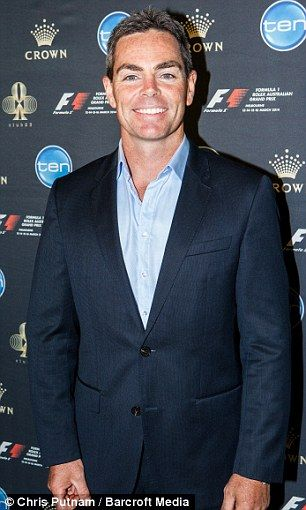Men of racing: Race car drivers David Coulthard and Craig Lowndes swap their racing gear f...