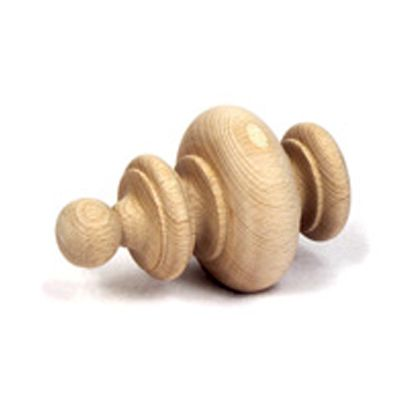 Banister Unfinished Wood Curtain Finials