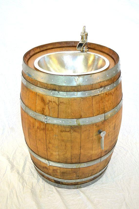 25 Best Ideas About Barrel Sink On Pinterest Rustic Bar