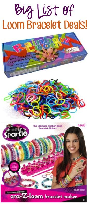 BIG List of Loom Bracelet Deals! ~ at TheFrugalGirls.com ~ stash away some fun crafty Christmas or Birthday gifts!