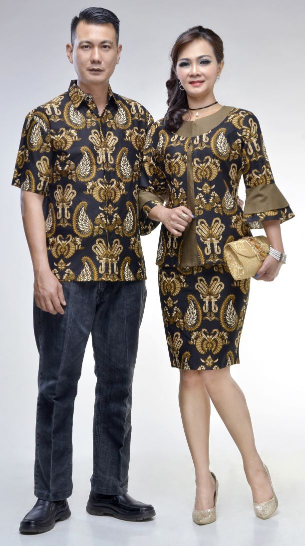 Model Baju Batik Gaun Couple 27