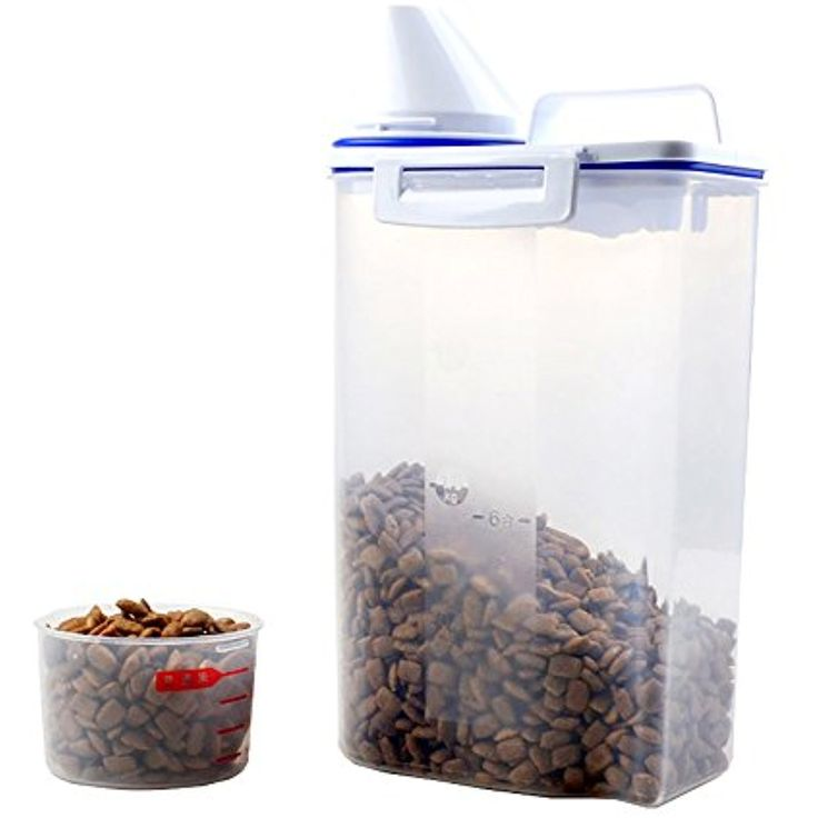 Pet Food Container Portable Dry Wet Dog Food Sealed Barrel Leak-proof Box Moisture-proof Bucket with Counting Cup Pet Snacks Storage Products(17oz) ~~~ You can read more at the image link. (This is an affiliate link and I receive a commission for the sales)