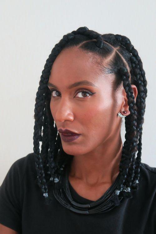 box braids nattes avec rajouts sur cheveux afro crpus naturels pour plus de conseils sur - Coloration Cheveux Crpus Naturels