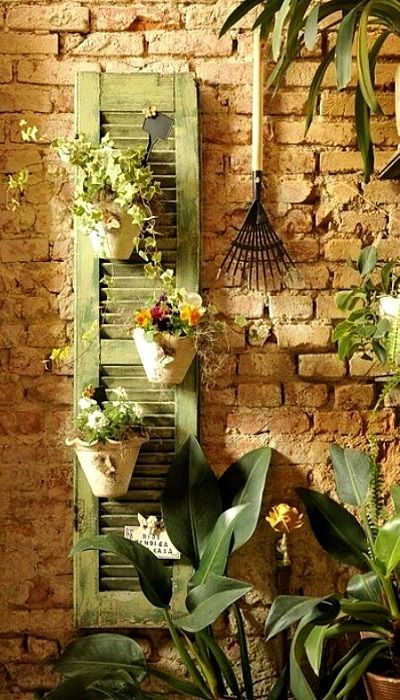 Great use for old shutters.