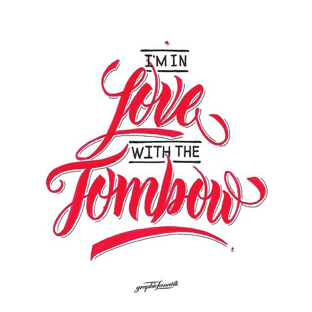 """I'm in love with the Tombow"" by Dion Sadji - @graphicfanatik on Instagram"