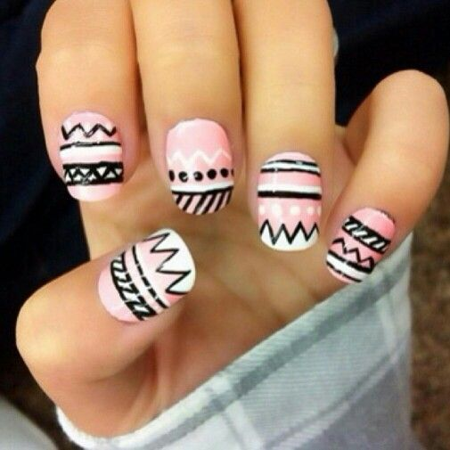 129 best nails images on pinterest nail scissors nail art diy aztec pattern prinsesfo Images