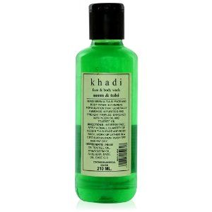 KHADI - Neem & Tulsi Face & Body Wash - 210ml by KHADI. $7.95. Tulsi - Toning and Stimulating - eliminates infection causing germs - effectively treats scalp conditions like dandruff, psoriasis etc. - natural anti-bacterial & anti-oxidant. Neem - highly detoxifying - eliminates infection causing germs to stop & prevent scalp disease - naturally anti-microbial & anti-oxidant. Khadi Face & Body Washes are a careful blend of herbally infused vegetable oils, fruit extracts, and ess...