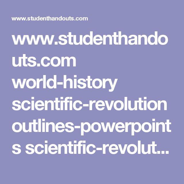 Best 25+ Scientific Revolution Ideas On Pinterest