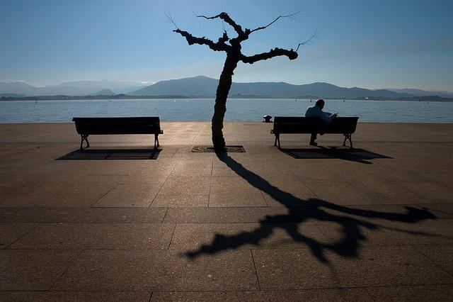 Sitting on the dock [of the bay] by alvarolg, via Flickr
