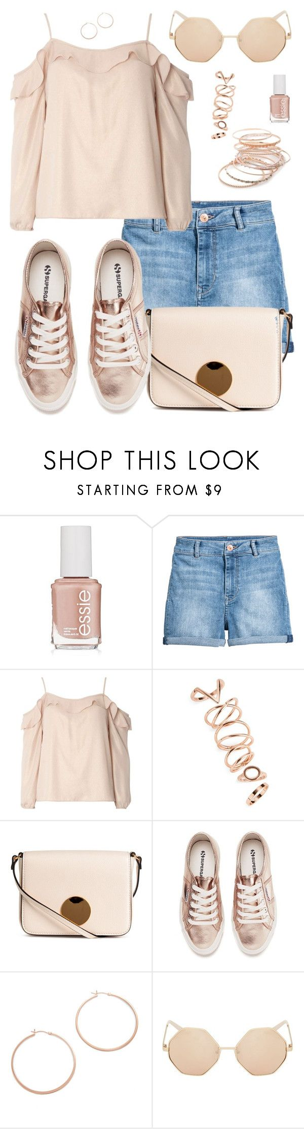 """Superga Women's 2750 Cotmetu Trainers - Rose Gold"" by dazzlious ❤ liked on Polyvore featuring Essie, H&M, Dorothy Perkins, Topshop, Superga, Jennifer Zeuner and Red Camel"