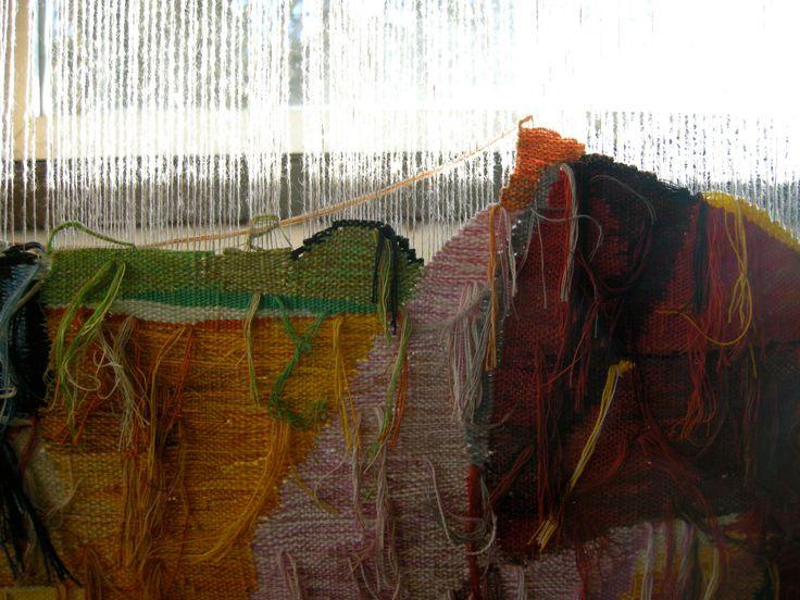 Arazzo su telaio verticale di Esino Lario