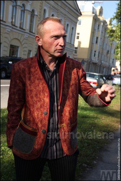 Пиджак мужской СОЛНЦЕПОДОБНЫЙ - бордовый,оранжевый,цветной,мужской пиджак