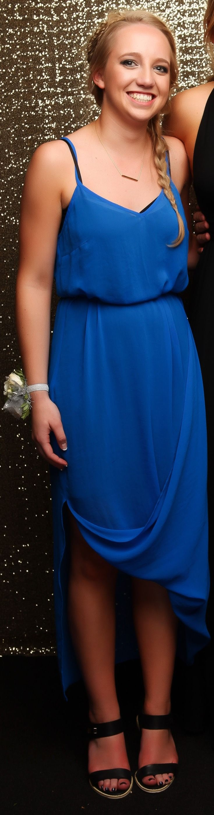 St Kentigern College Ball 2015. Incredible blue gown! www.whitedoor.co.nz