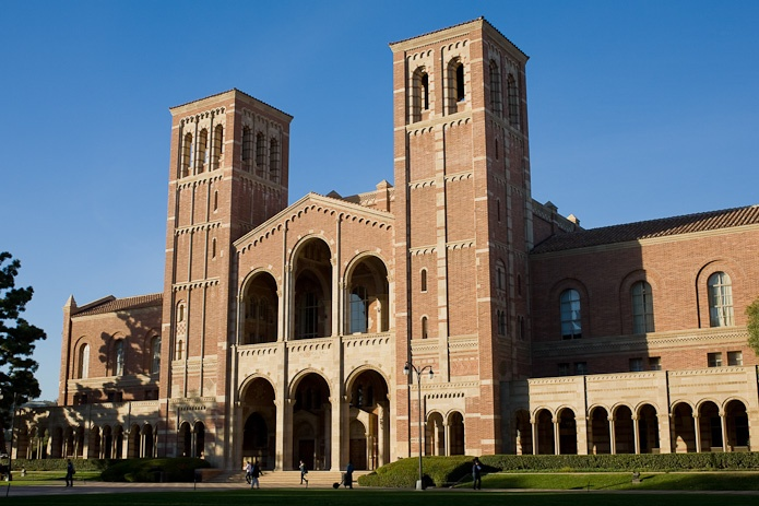 UCLA Royce Hall (http://www.uclalive.org/about/history.asp) - This architectural landmark and symbol of the campus is one of the first four buildings on the Westwood campus. Constructed in 1929, Royce Hall was modeled after Milan's San Ambrogio Church.