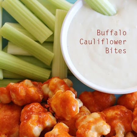 Spicy Buffalo Cauliflower Bites - minus the blue cheese and add ranch ...
