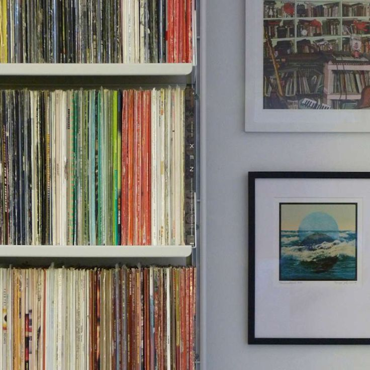 an invisible shelving system bearing the heaviest of loads vinyl lp or record