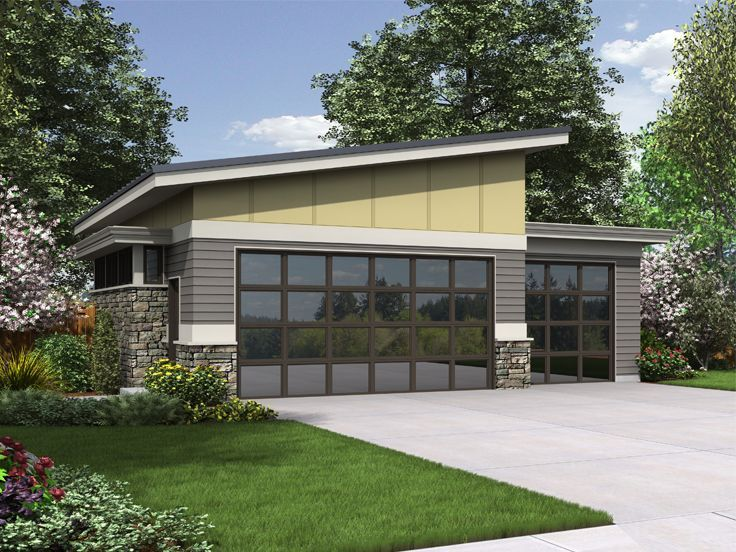 40 best modern garage plans images on pinterest modern for 2 5 car garage cost
