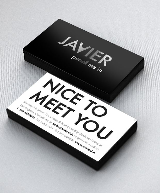 I Like The Nice To Meet You Option Give Out Unique Business Cardsprofessional