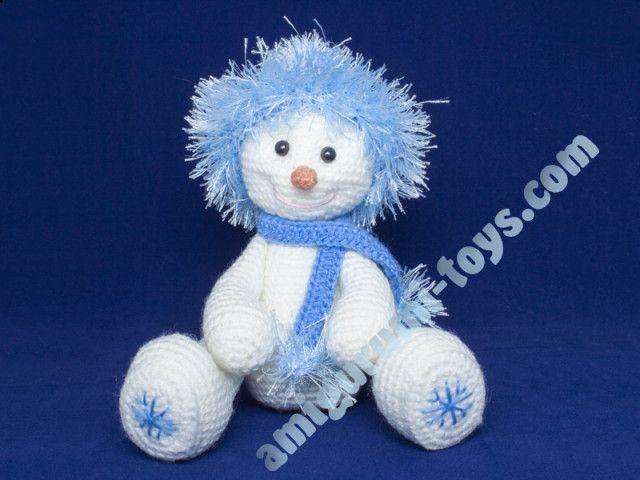 Снеговик амиугуруми Фрости