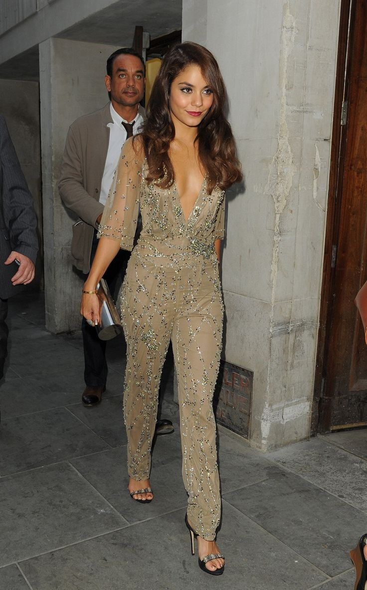 Vanessa Hudgens Vintage Stella Mccartney Gold Sequin Beaded Jumpsuit Play Suit Romper Evening