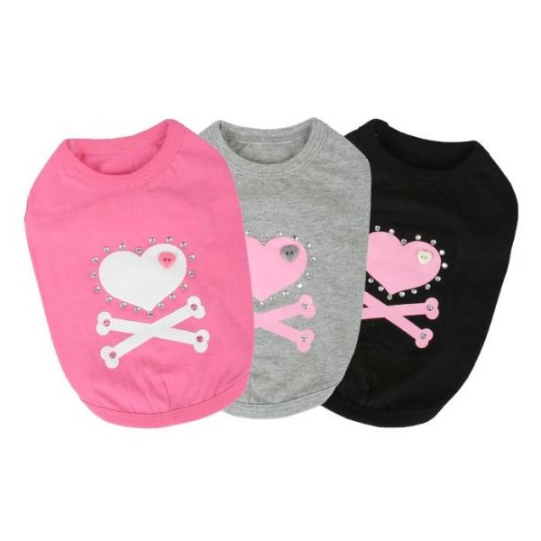 Camiseta para Perro Love Bone - KUKA´S WORLD - Ropa y Accesorios exclusivos para Perros. Moda Canina de Diseño y Artículos para Mascotas con estilo. Designer Dog Clothes and Luxury Accessories for Pets! http://www.kukasworld.com/
