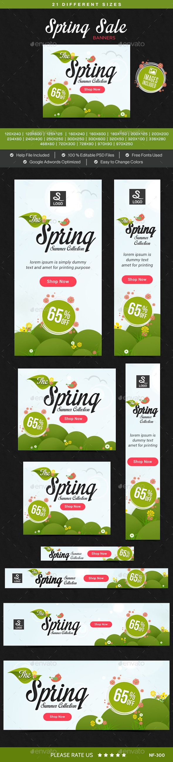 Spring Sale Web Banners Template