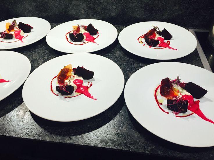 Textures of beetroot - chef Hayden Vink, The Ecurie