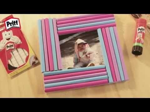 ▶ Manualidades de papel - Portaretratos - YouTube