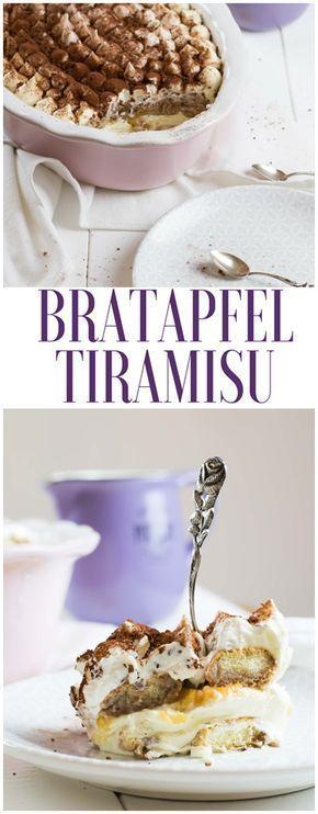 Rezept für Bbratapfel Tiramisu #rezepte #tiramisu #bratapfeltiramisu #kuchen
