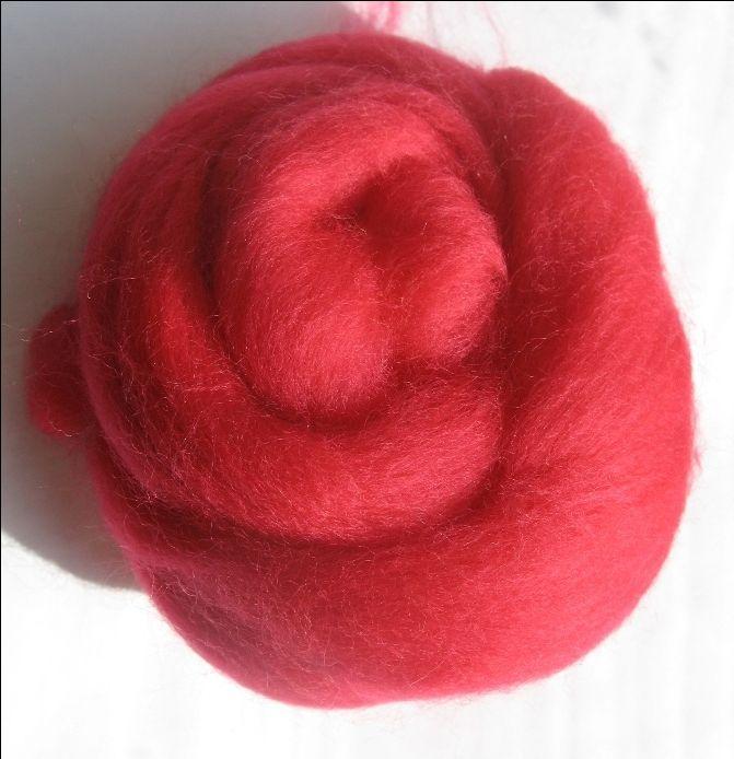 Merino  vlna  -ružovočervená