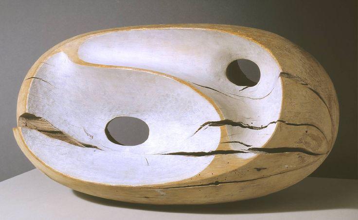 steverinzen:    Dame Barbara Hepworth, Tides I, Part painted wood (holly), 337 x 632 x 298mm