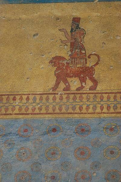 Detail of Erebuni fortress interior wall.God Khaldi.