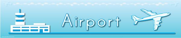 Airport Sign...Large Airport sign / banner ideal to use in early years role play in schools and early years settings.