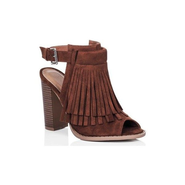 Spylovebuy HONOLULU Adjustable Buckle Block Heel Strappy Sandals Shoes... ($53) ❤ liked on Polyvore featuring shoes, sandals, brown, court shoes, women, block heel sandals, strap shoes, strap sandals, brown shoes and block heel shoes
