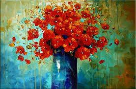 easy oil painting pictures for beginners flowers - Google Search