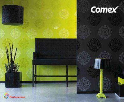Prueba esta mezcla de #verde y negro. Realzará tu hogar. #DecoraciónComex…