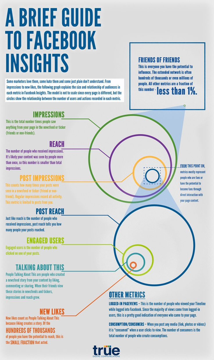 Facebook Insights infographic
