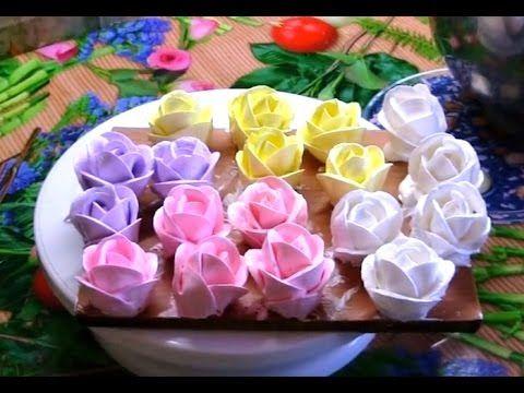 Украшение тортов 25 - розы из белкового крема