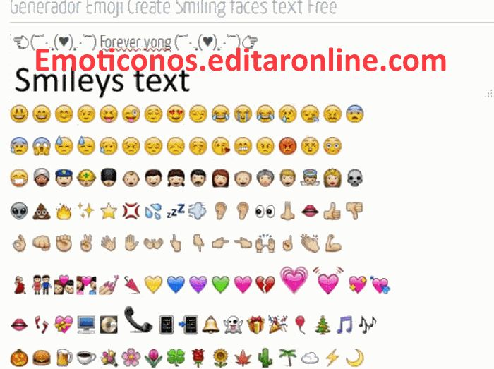 Crear emoticones nuevos con el teclado del Pc o smartphone para tu muro facebook o estado del whatsapp smileys gratis